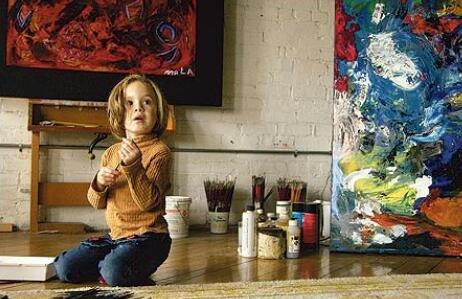 الطفلة Marla Olmstead بعمر الثلاث سنوات ولوحاتها تباع بآلاف الدولارات - صورة 1