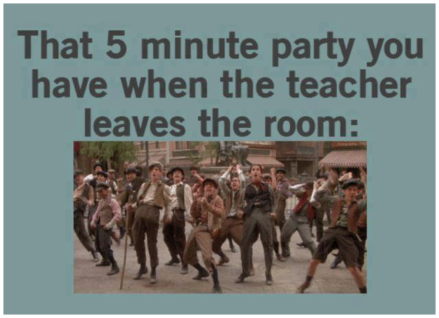 This is what we used to do when the teacher leaves the class!