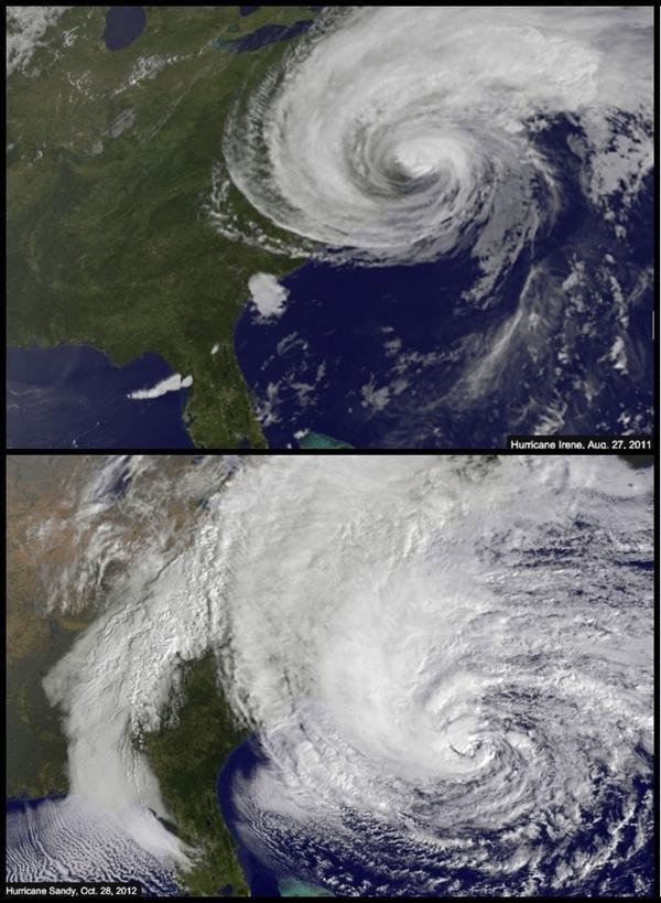 إعصار ساندي وإعصار آيرين