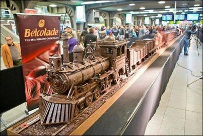 اكبر قطار للشوكلاته في بروكسل