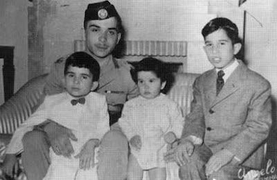 صورة #قديمة تظهر جلالة #الملك_حسين رحمه الله وأخوته #الأردن #تاريخ