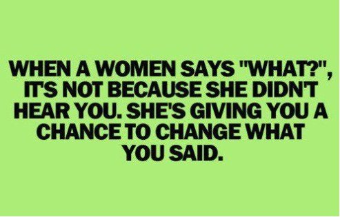 when women say what