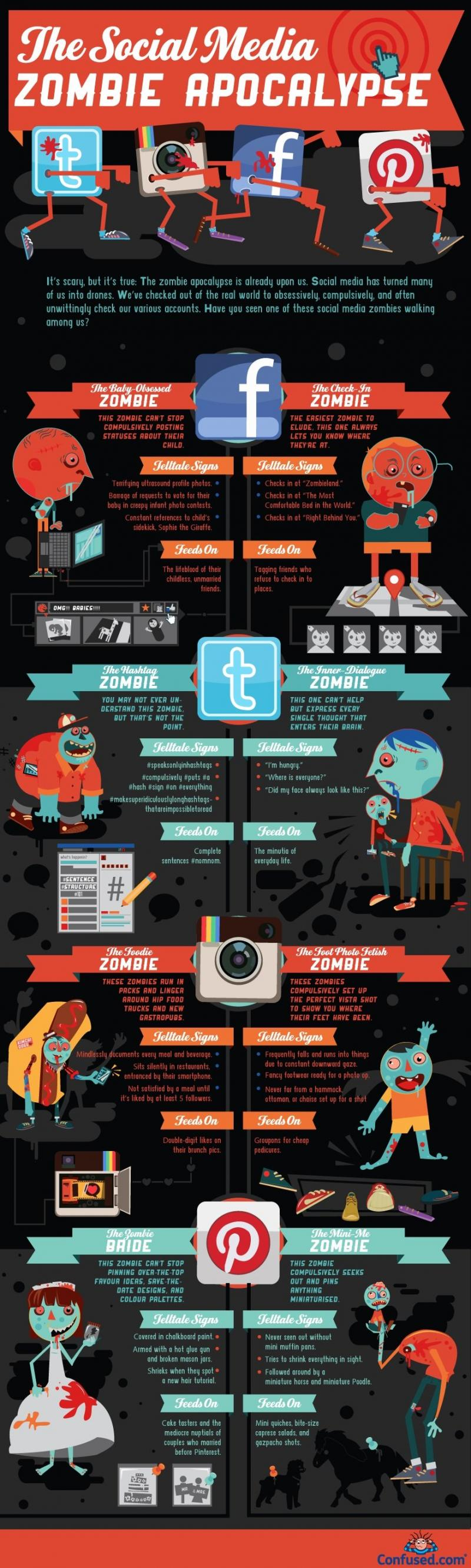 The #social_media #SMM zombie - #Infographic
