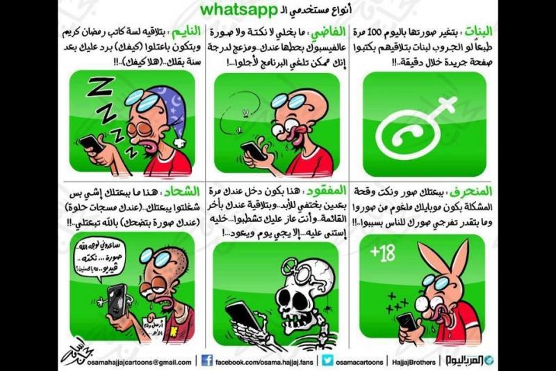 أنواع مستخدمي ال #واتساب whatsapp
