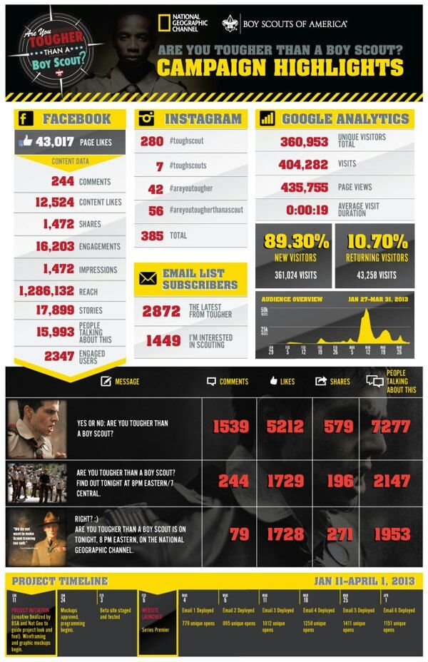 Social Media Campaign Results #infographic