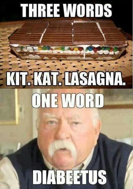 three words kit.kat lasagna