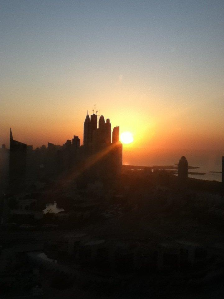 Sunset in #Dubai