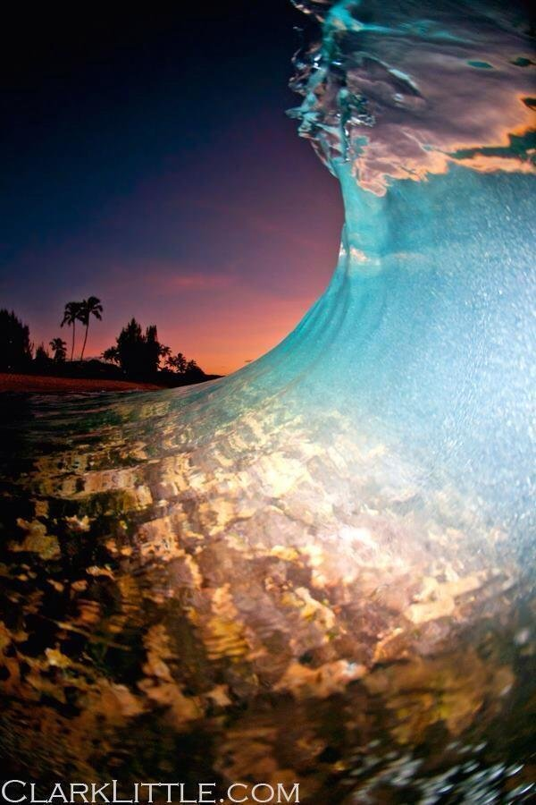 shot taken at dusk with a flash on the North Shore of Oahu