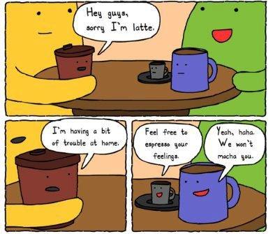 Cute coffee conversation :)