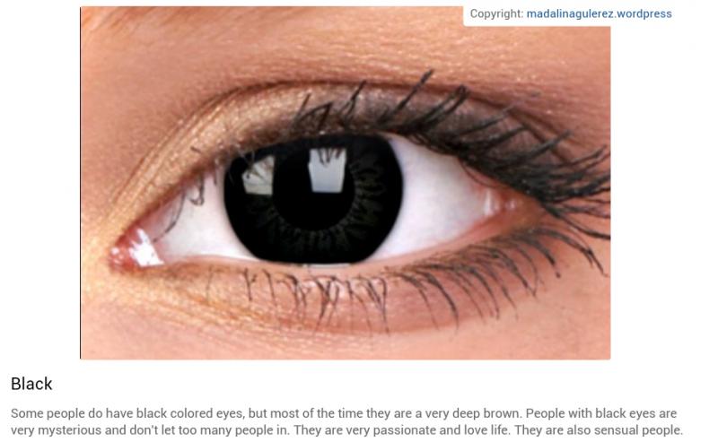 شخصيتك حسب لون عينيك: الأسود #تحليل_شخصية