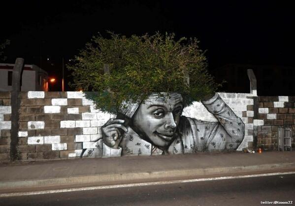 فن الرسم على الجدران اليست رائعة..!