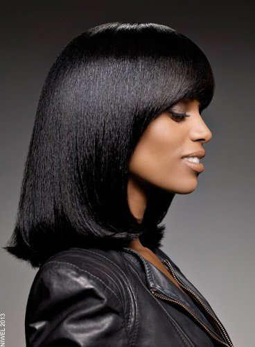 #تسريحات شعر 2014 : تسريحة شعر متوسط لصاحبات البشرة السمراء