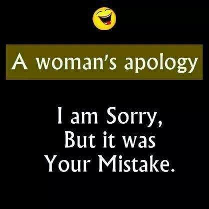 A woman's apology