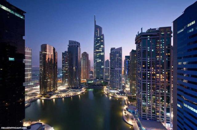 روعة #دبي في الليل