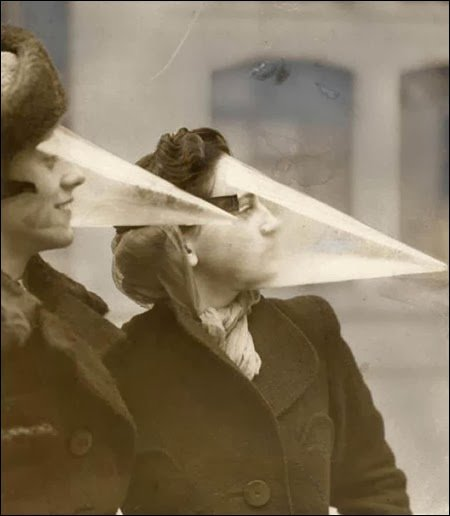 Face cones designed to protect against snow storms and blizzards 1939