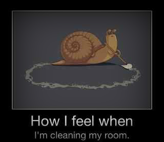 How do i feel when cleaning my room