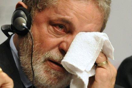Brazilian President Luiz da Silva burst into tears
