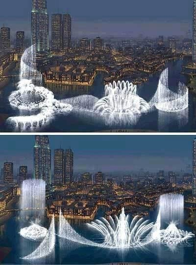 World's Largest Fountain in #Dubai