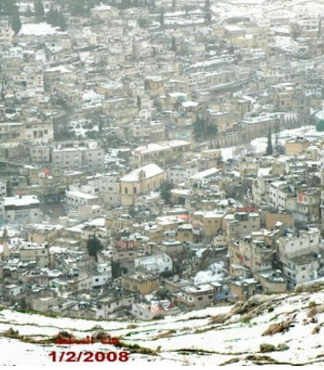 #السلط #الأردن مكسوة بالثلج صورة من عام 2008