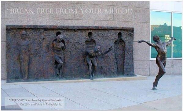 'FREEDOM' sculpture by Zenon Frudakis