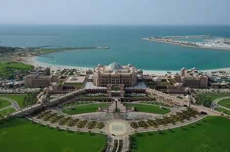 صورة جوية ل #قصر_الإمارات في #أبوظبي