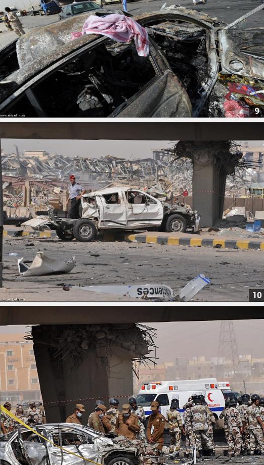 المزيد من صور تفجير #الرياض #السعودية نقلا عن صحيفة الرياض 2