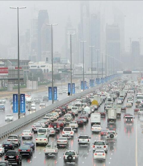الأمطار في #دبي