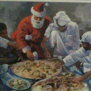 لحظة وصول بابا نويل للأردن