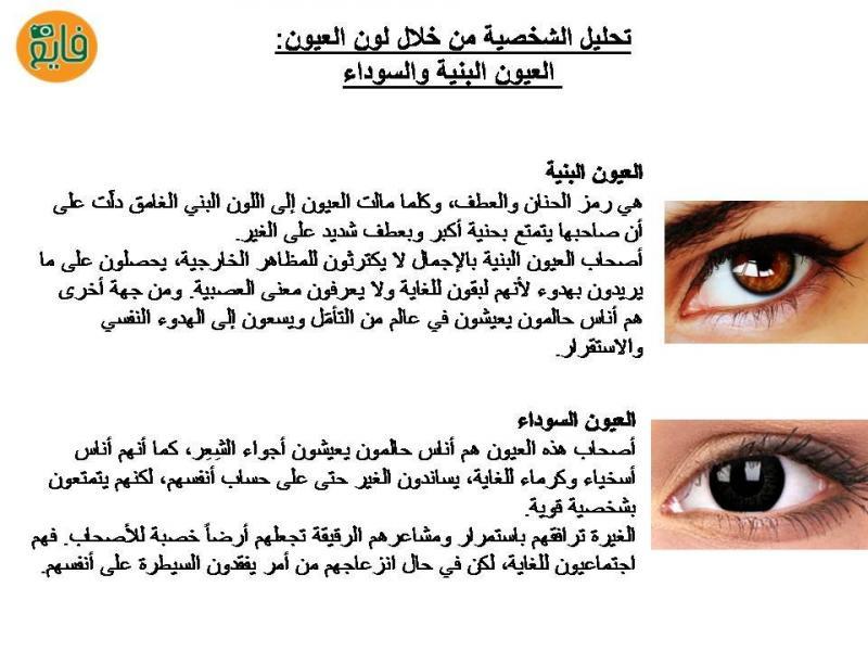 تحليل الشخصية حسب لون العيون: الأسود والبني
