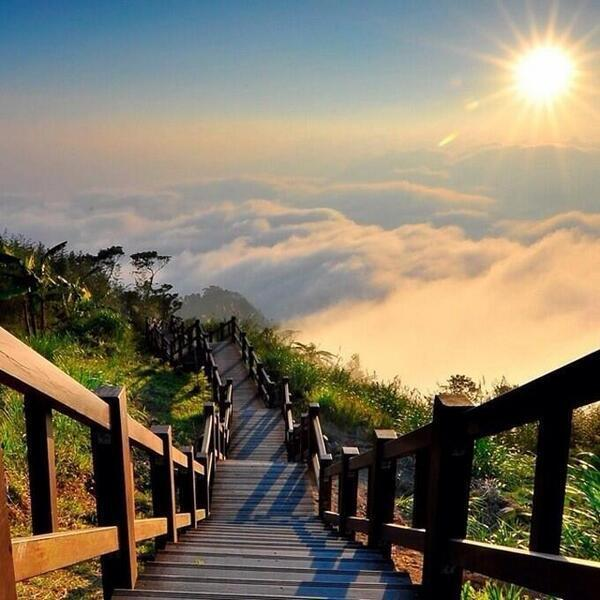 Steps to the sun ~ Yushan National Park, Taiwan