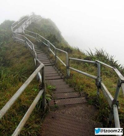 سلالم هايكو بـ هاواي ،السلالم تضم 3922 درجة