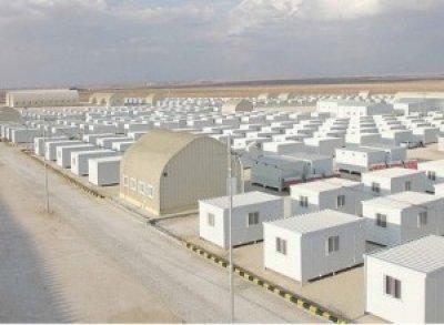 صورة مخيم مخيزن الغربية في الازرق لاستقبال اللاجئين