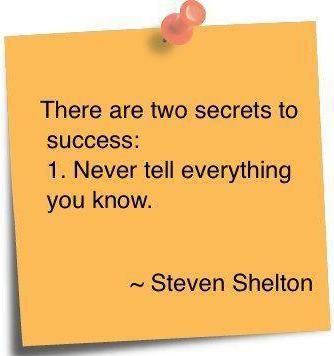The 2 secrets to success