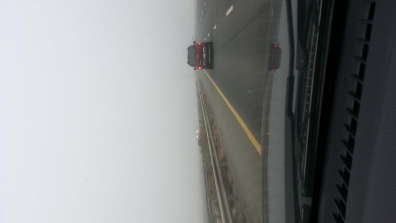 الضباب على طريق #أبوظبي #دبي