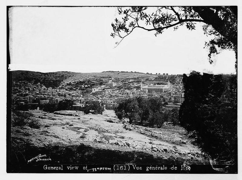 الخليل منظر عام #قديم للمدينة. (1914)