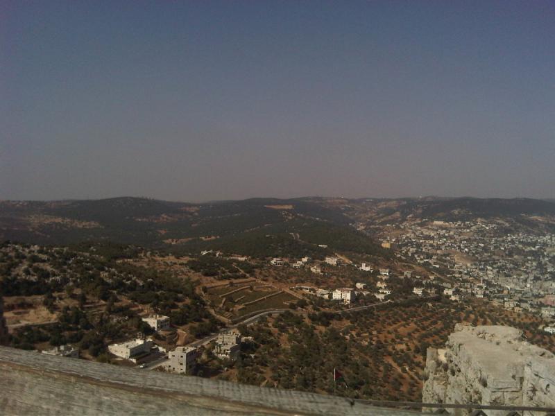كيف تبدو #عجلون من على قلعة الربض #الأردن