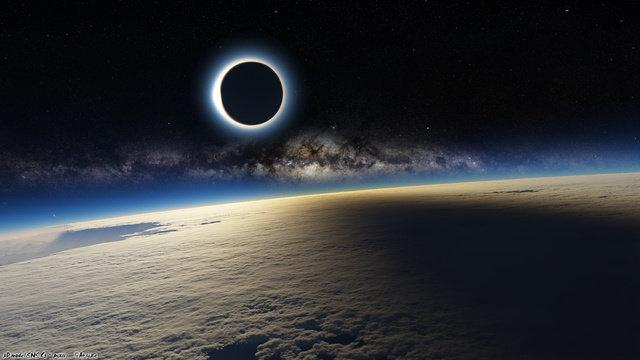 Sun Eclipse from Space