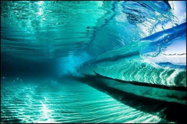 Spectacular.. The inside of a wave.