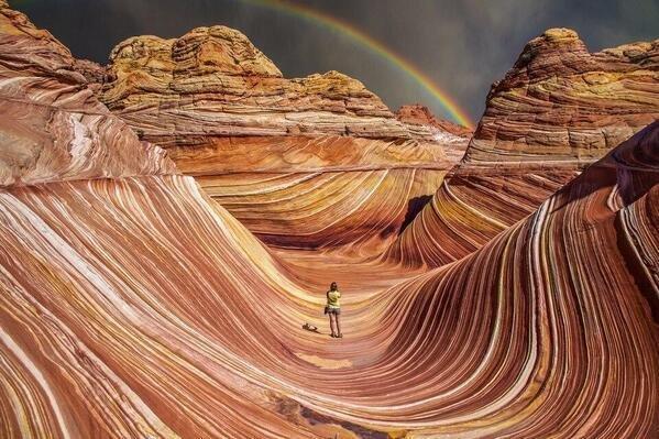 Those petrified sand dunes are on the border of the Utah and Arizona