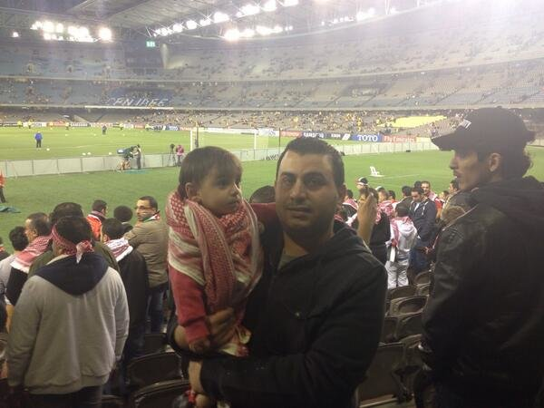 #TFsport اصغر نشمي في ملعب المباراة ليشجع النشامى