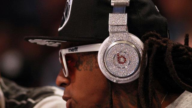 Lil Wayne Wearing $1 Million Beats by Dre Headphones Is a Diamond Studded Mess