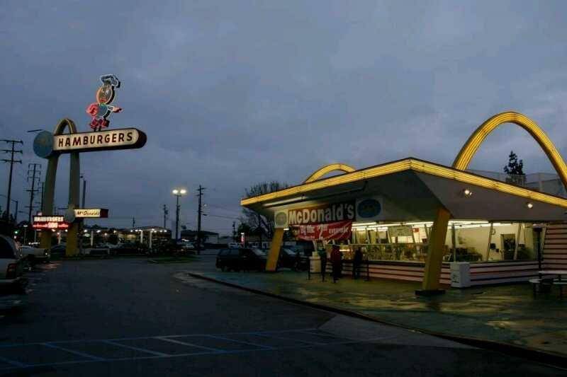 اقدم فرع ماكدونالدز في احد ضواحي شيكاغو