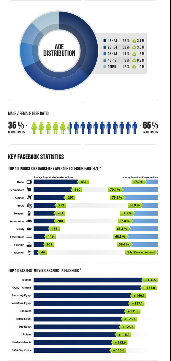 MENA on #Facebook - Detailed #infographic - part 2