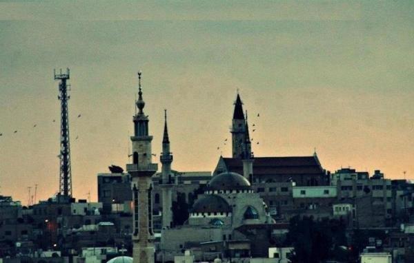 المسجد والكنيسة معا في صورة واحدة هنا #مادبا #الأردن