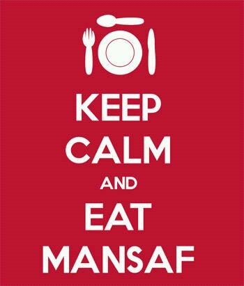 منسف Keep Calm and Eat Mansaf