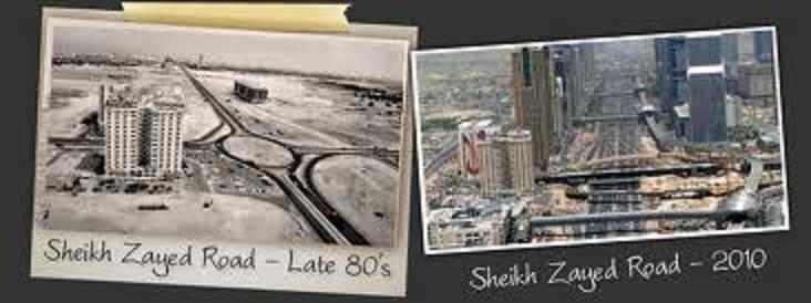 شارع #الشيخ_زايد في #دبي بين الماضي والحاضر
