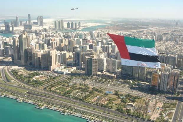 علم #الامارات يرفرف فوق #أبوظبي