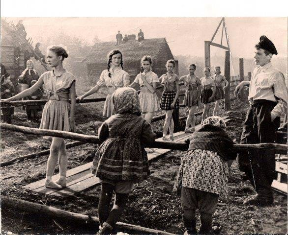 Ballet class in a destroyed Russian town in World War Two