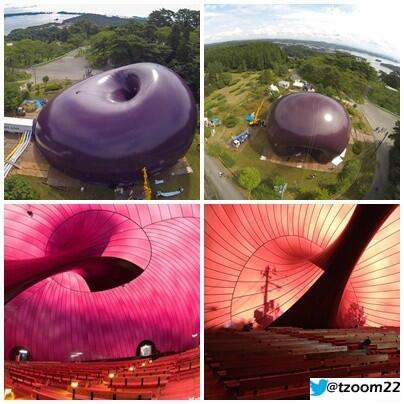 صورة: اليابان تصنع أول قاعة حفلات في العالم قابلة للنفخ #معلومات