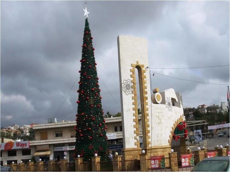 شجرة الميلاد في #الفحيص #الأردن
